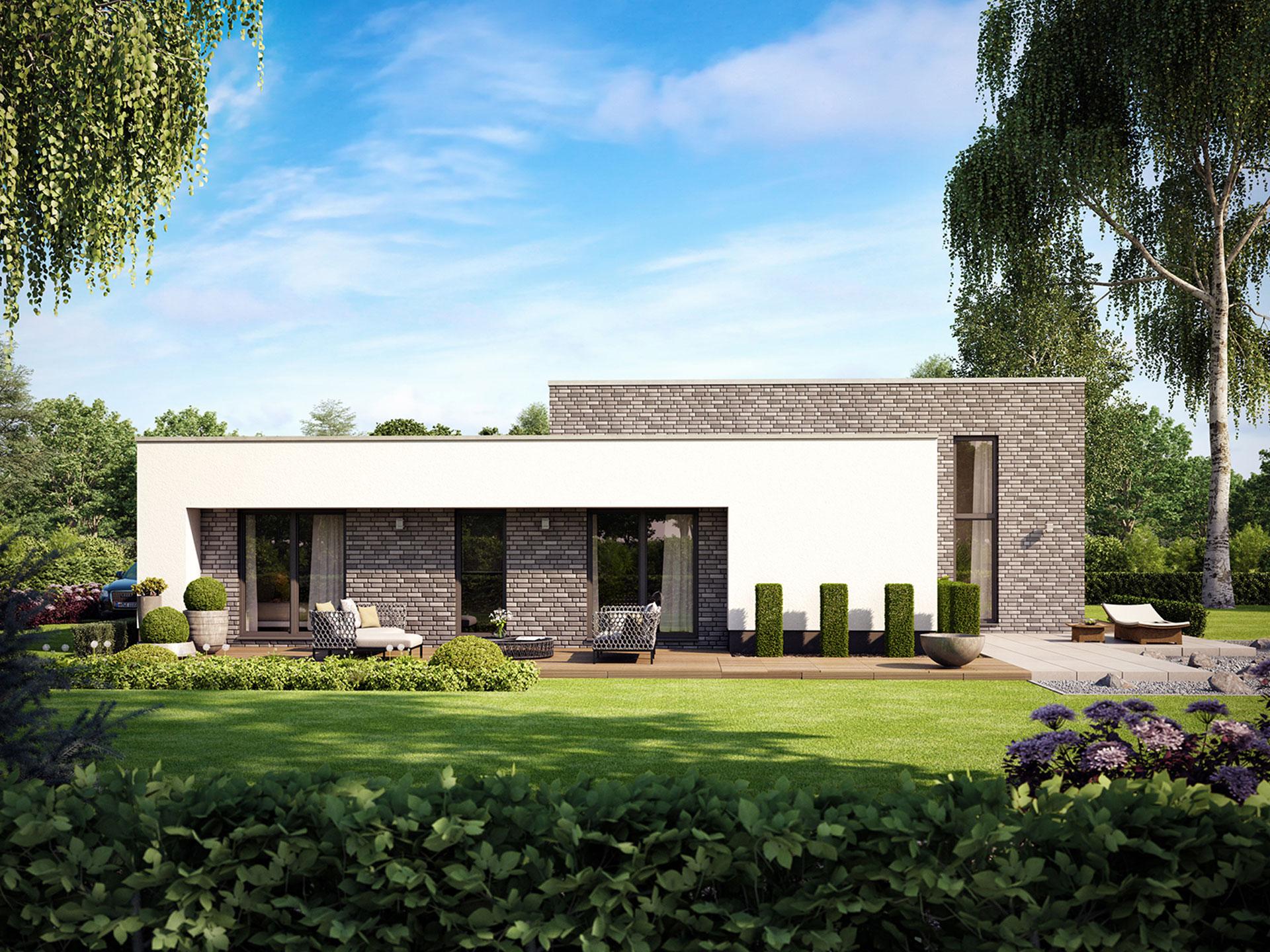 Bungalow Trend 2000 von HVO-Massivhaus - Deutsche Bauwelten