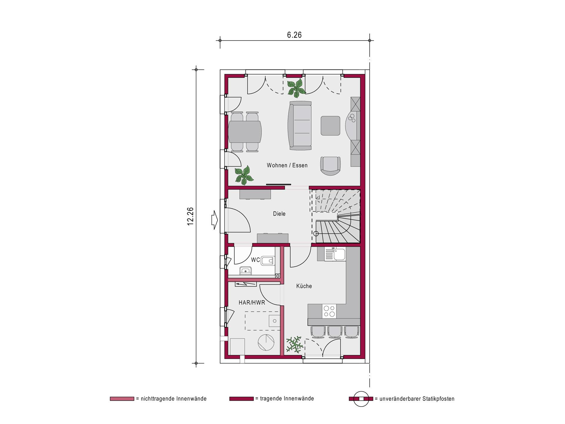 Ein SteinHaus Doppelhaus Concept 2.0 D SP Grundriss EG