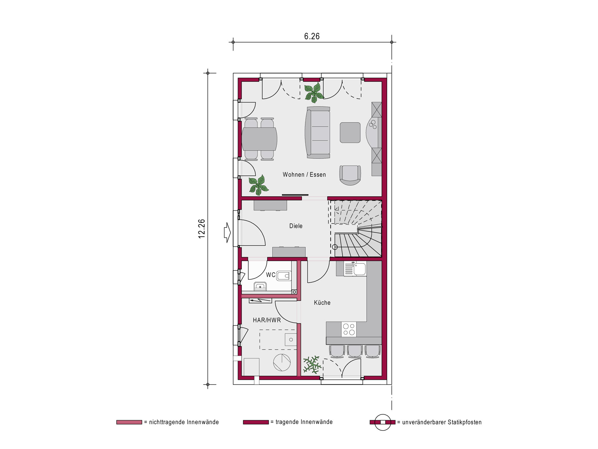 Ein SteinHaus Doppelhaus Concept 2.0 D SP Grundriss OG