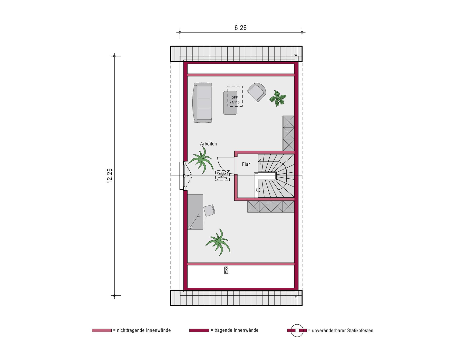 Ein SteinHaus Doppelhaus Concept 2.0 D SP Grundriss DG